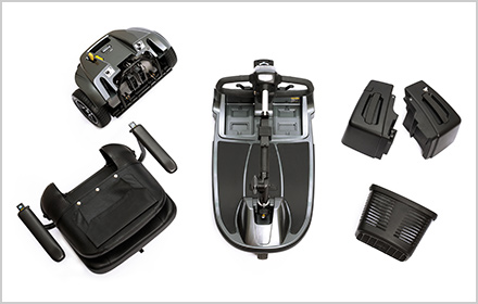 Convenient Disassembly - Pride Mobility Scooters, Revo 2.0